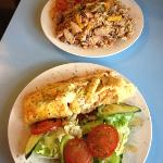  Jambalaya and provencale omelette - yum!