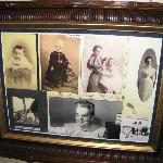 Photos of Beulah Squires whose father the house was built for, and whose room we stayed in