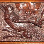  Detail of carved bird from headboard in Beulah Room