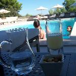 Ricard by the pool.