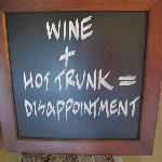 Disappointment comes from more than just wine in a hot trunk, it also comes from not feeling wel