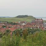 View of Sheringham from the Coastal Path behind the B&B
