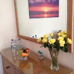  Fruit, fresh roses, water and chocolates were all presented upon arrival to our room.