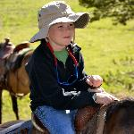  8 year old Josh enjoying his first horseback ride!
