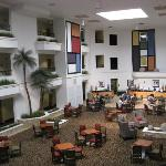 View of the atrium/breakfast area