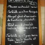  carte des desserts