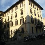 The right side of the building in which Residenza Johanna is located.  Our room was on back of t