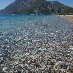 A view from the beach at the doorstep of Hobbit evi; Cirali Olympos Beach.