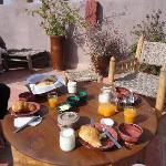  Delicious rooftop breakfast at Riad Sabah