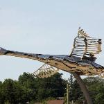 Swan sculpture at the harbour