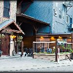 Entrance to The Pub along the Waupaca River