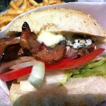 Goods Burger with Smokehouse Bacon and Bleu Cheese