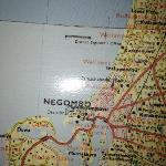 the map of the area, Negombo village