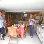  Yvon with our friends Dick and Barb in the breakfast area