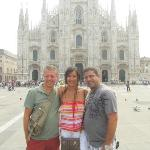 Piazza del Duomo with Tony, Ana and Victor