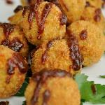 Aged cheddar and smoked chicken croquettes