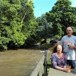  Enjoying a pint in the lovely seating area by the river