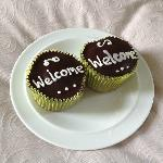 Our lovely (and yummy!) Welcome Cupcakes