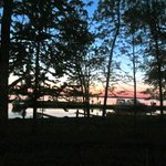 Beautiful sunset: View from the cottage deck