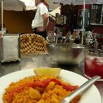 Paella and (in my opinion) the nicest waiter in Spain