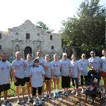 In front of the Alamo at the start of the tour!