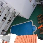 View on swimming pool from terrace