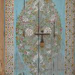  beautiful painted door near the museum