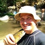  My first Trout caught across from Indian Flat RV Park