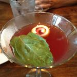 pomegranate basil martini