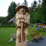 One of the wooden carvings in the hotel grounds