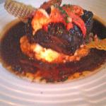  Short Rib with lobster on mashed potatoes