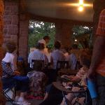  Concertgoers on the veranda of the Frank House