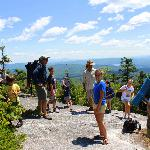lodge guests on hike with AMC naturalist