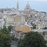The amazing view of Sacre Coeur from the room.