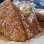 The fig puree stuffed brioche french toast (with Vermont maple syrup) - INCREDIBLE!!!!