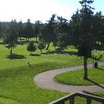 view to the colf course