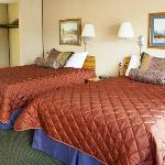 Our comfortable new beds with brand new linens.