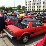 Rear car park of Tulip Hotel south Turin