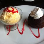 lava cake - as expected - strawberry