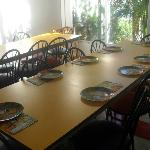 The party room dining tables