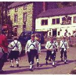 Morris dancing in the summer