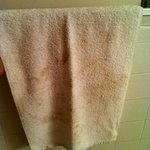 I unfolded this hand towel and it was already dirty!
