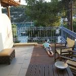  Terrace, perfect to relax and read in the evening as my son does on the oicture.