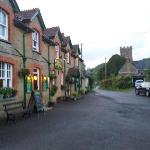 The front of the Three Horseshoes Inn