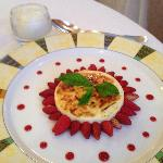  Patrick Michelon crme gratin citron et fraises des bois sorbet petit suisse