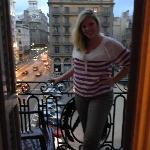  Me on our balcony overlooking the street below