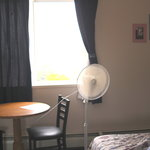                    Sole source of ventilation. A fan and window with no cross ventilation on a 94