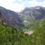 Looking down into Telluride