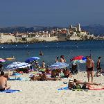 The beach at Antibes about 10 minutes walk from the hotel
