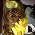 the lovely ribs served in a local restaurant for 12lv! is there any wonder we ate out every nigh